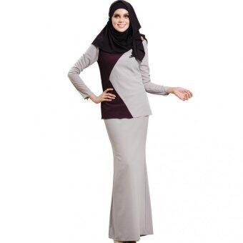 Lara Nour Baju Kurung Moden (Dark purple)