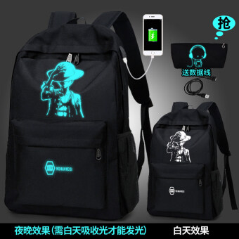 Large High Men travel large capacity high school students school bag backpack (846 Charging one piece to send music purse)