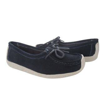 LARRIE Loafer Flat Casual Shoe Black Color