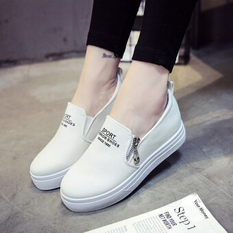 Harga Lazy autumn New style in the by Gao Xiaobai shoes (White Shoe size is too small a code)