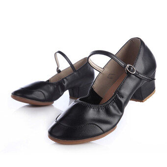 Harga LCFU764 New Style Companionship Square Dance Dancing Shoes-black