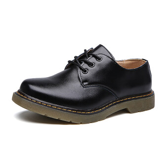 Harga Lechgo Unisex Men Martin Boots Lovers Casual Shoes JW125 (Black)