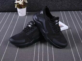 Limited Hard Court Wide Men Breathable Sneakers Slip-on Free RunSports Fitness Walking Running Shoes (ALL Black) - 2
