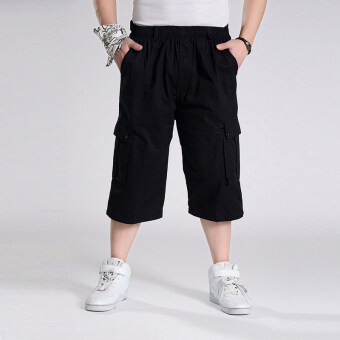 LOOESN large yards casual pant trousers (Black)
