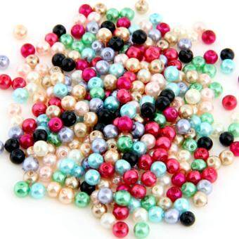 Harga Lot 500 Multicolor Round Glass Pearl Loose Beads 4mm HOT