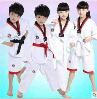 Male girls models Taekwondo judo and clothes training clothes (Longsleeve) (Long sleeve)