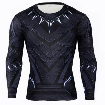 Men Compression Tight T-shirt Long Sleeves Prints Base Layer(Type4) - 2