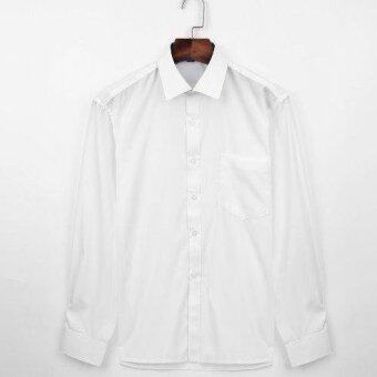 Harga Men Formal Long Sleeve Shirt (White)