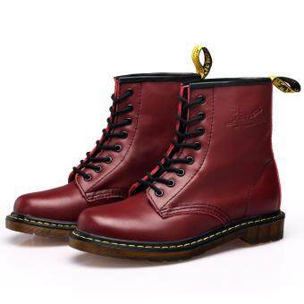 sell genuine leather high top martin boots waterproof
