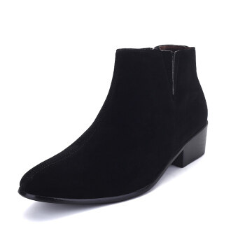 Harga Men pointed british fashion formal ankle boots