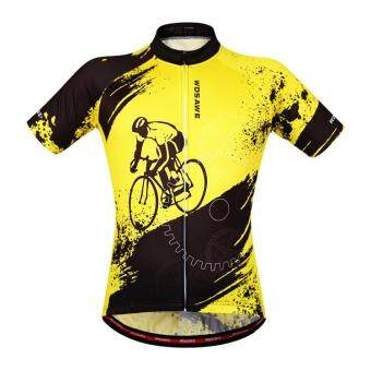 Men Summer Cycling Jersey T Shirts Short Sleeve Stretchy BicycleBiking Cycling Tee Tops Quick Dry Reflective Breathable
