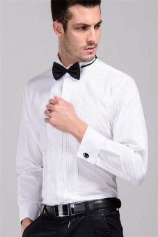 Harga Men wedding Dress Tuxedo shirt White YW668