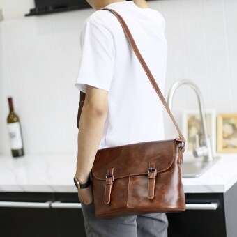 Harga Men's Retro Handmade Messenger Casual Bag