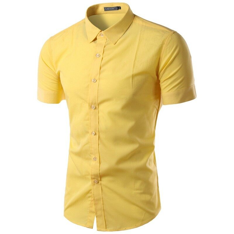 Mens Yellow Button Down Shirt Custom Shirt