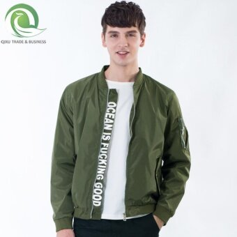 Harga Men's men jacket New style flying the new (Green) (Green)