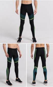Men's Running Pants Basketball Tights Compression Running LeggingsSports Trousers Pants Gym Sports Bottoms Running Clothes (Green)