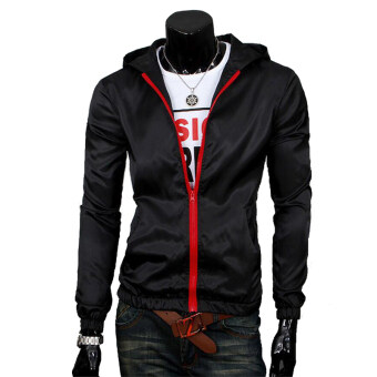 Harga Men's Waterproof Sports Jacket Thin (Black)