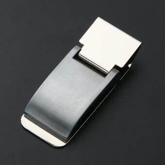Metal Stainless Steel Money Clip Holder Folder Collar Clip(Silver) - 3