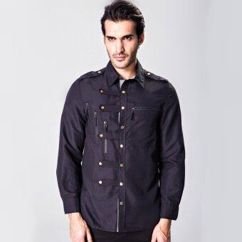Sell military style slim fit brand long sleeve shirt for for Mens military style long sleeve shirts