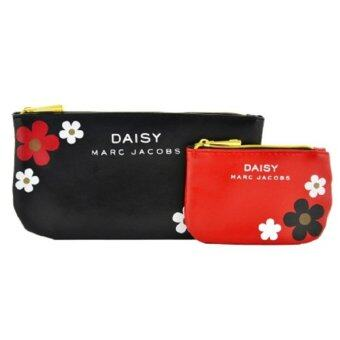 Harga M.J. Daisy Pouch Red and Black Pouch Set (CLEARANCE BELOW COST )