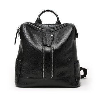 Munoor Italian 100% Genuine Leather Women Backpacks Shoulder BagsTravel Hoders - 2