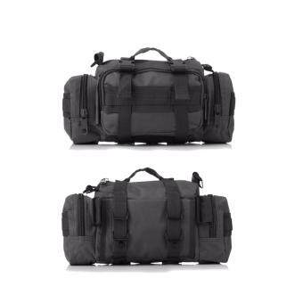 Naoki Tactical Camping Hiking Bike Sport Military Army Travel Waist Pack Hand Carry Pouch Shoulder Bag (Black) - 2