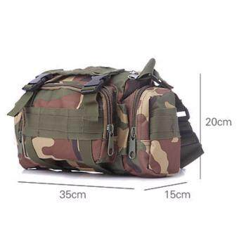 Naoki Tactical Camping Hiking Bike Sport Military Army Travel Waist Pack Hand Carry Pouch Shoulder Bag (Black) - 3