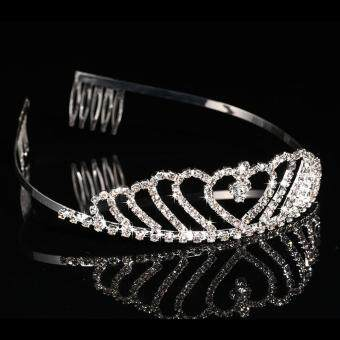 Detail Gambar Produk New Elegant Luxurious Diamante Rhinestone Crown Wedding Party BrideGift Produk Terbaru