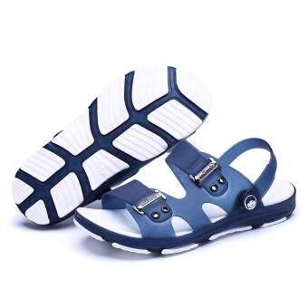 New Fashion Men's Sandals, Beach Slippers, Summer Shoes, Cool Non-slip. (blue) - 4