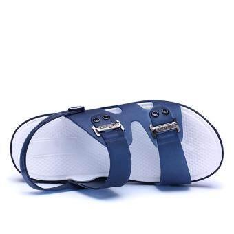 New Fashion Men's Sandals, Beach Slippers, Summer Shoes, Cool Non-slip. (blue) - 3