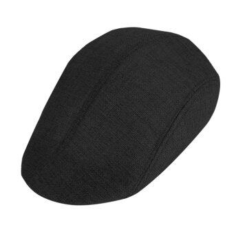 Harga New Fashion Men's Classic Linen Beret Hat Duckbill Cap