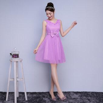 New style bridesmaid dress (Lavender purple c5) (Lavender purple c5)