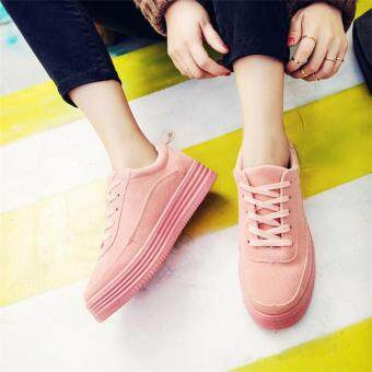 Harga New Womens Fashion Running Athletic Sport Shoes Casual Breathable Sneakers Shoes PINK