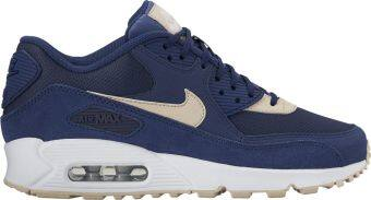 Harga Nike Women's Air Max 90 Essential Lifestyle Shoe (Navy / Beige)