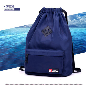 Nylon lightweight travel folding backpack sports and fitness (S xi mo navy blue) (S xi mo navy blue)