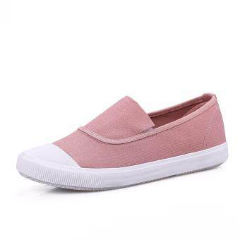 Ocean NEW Ladies fashion Flat shoes Han edition Canvas shoes(Pink) - 2