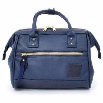 [Original Authentic] Anello Leather Shoulder Small Bag AT-H1021(Navy)