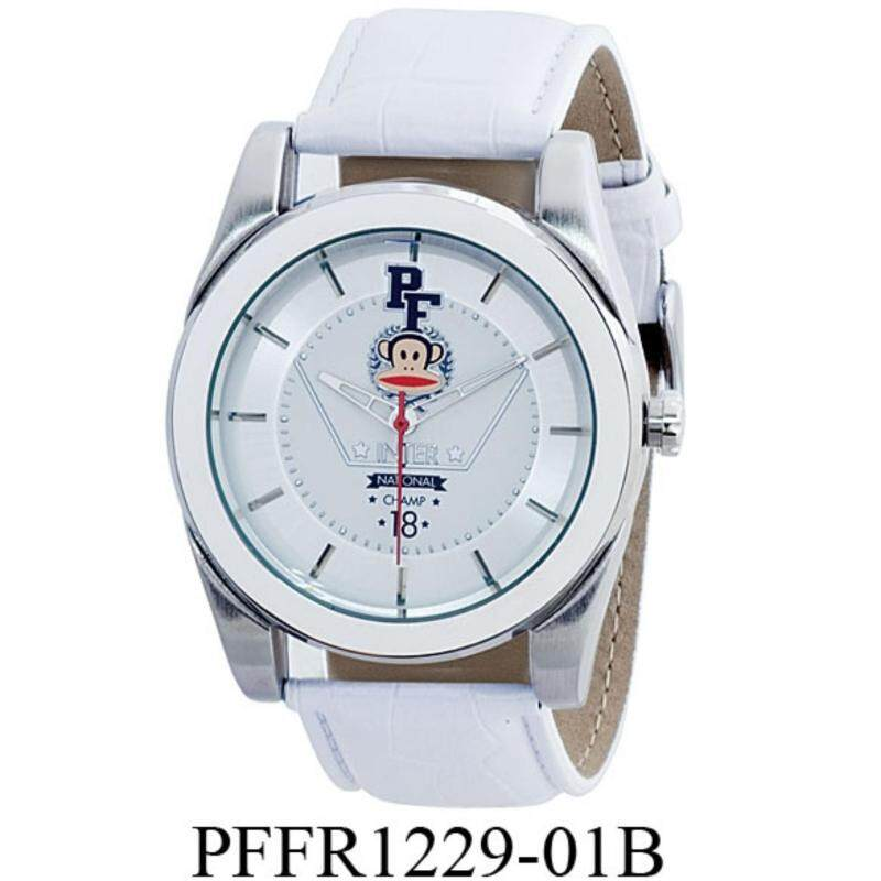 Paul Frank Mens White Leather Strap Watch PFFR1229-01B Malaysia