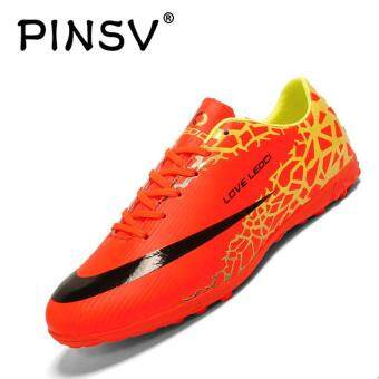 88bec0cbfca8 PINSV Men's Outdoor Soccer Shoes Turf Indoor Soccer Futsal Shoes(Red)  Online Shopping in Malaysia