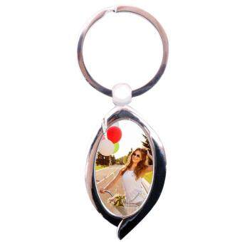 Pixajoy: Personalised Photo Keychain (Oval)
