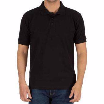 Harga Plain Polo Shirt - Black