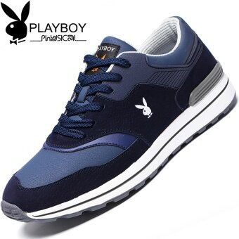 PLAYBOY Korean-style anti-suede leather lace shoes outdoor sports shoes (Shen Lan)