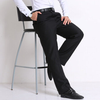 Harga Plus Size Straight Men Suit Pants Work Office Formal Middle-agedPants Casual Mens Business Trousers