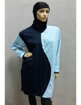Plus Size TShirt Muslimah Biru