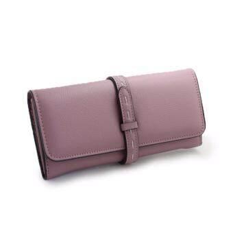 Polly Molly Trendy 3fold Premium PU Leather Wallet 4226_PastelPurple