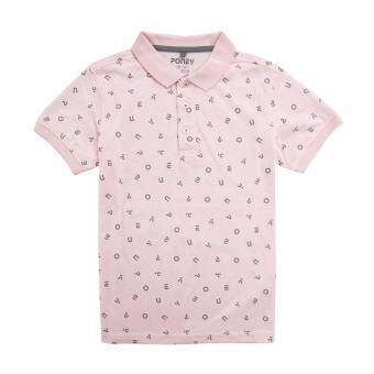 Harga PONEY ALL-OVER ALPHABET POLO TEE (PINK)