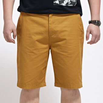 Popular brand extra-large No. summer shorts men's shorts (Dark Khaki)