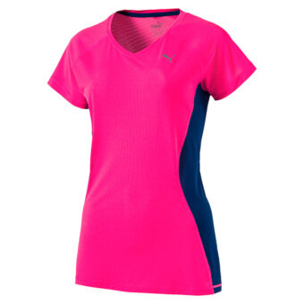 Puma Women's Core-Run Shortsleeved Tee W (Pink/Blue)