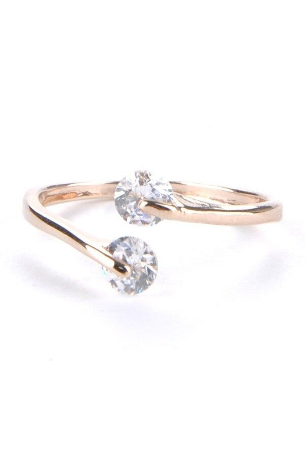 LONG B Rose Gold Plated Crystal Rings: Buy sell online Rings with cheap price - intl