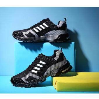 Harga Running Shoes Men Sneakers Casual Athletic Shoes Man SportsShoes(black)